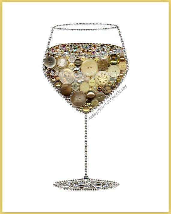 Kunst-Taste Weißer Wein Küche Dekoration von BellePapiers