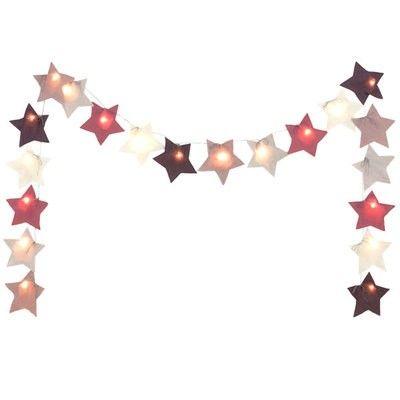 Guirlande étoile lumineuse Numéro74 rose
