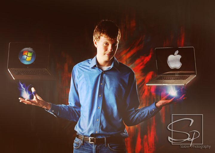 Senior Pictures Computer Geek Apple Pc Senior Pictures Portraits Ideas And Inspirations