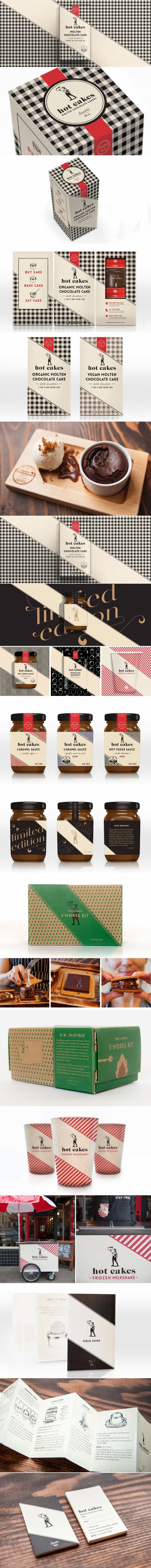pinterest.com/fra411 #visual #identity - Hot Cakes Molten Chocolate Cakery by Creative Retail Packaging, Inc.