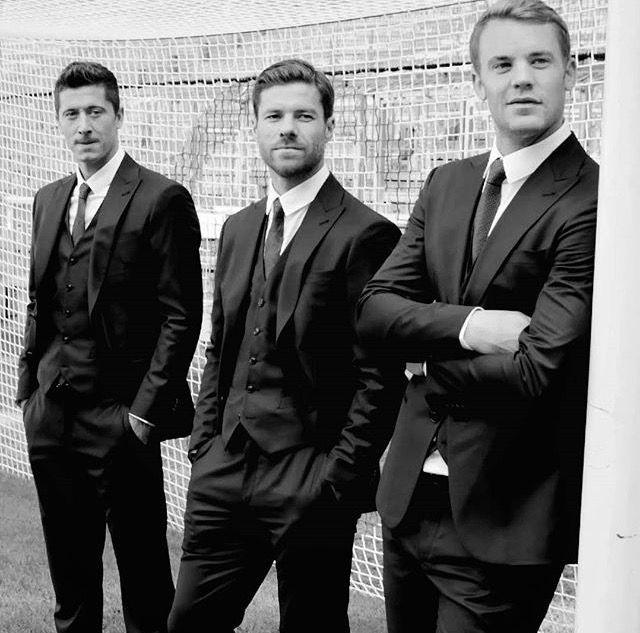 Manuel Neuer, Xabi Alonso and Robert Lewandowski❤️