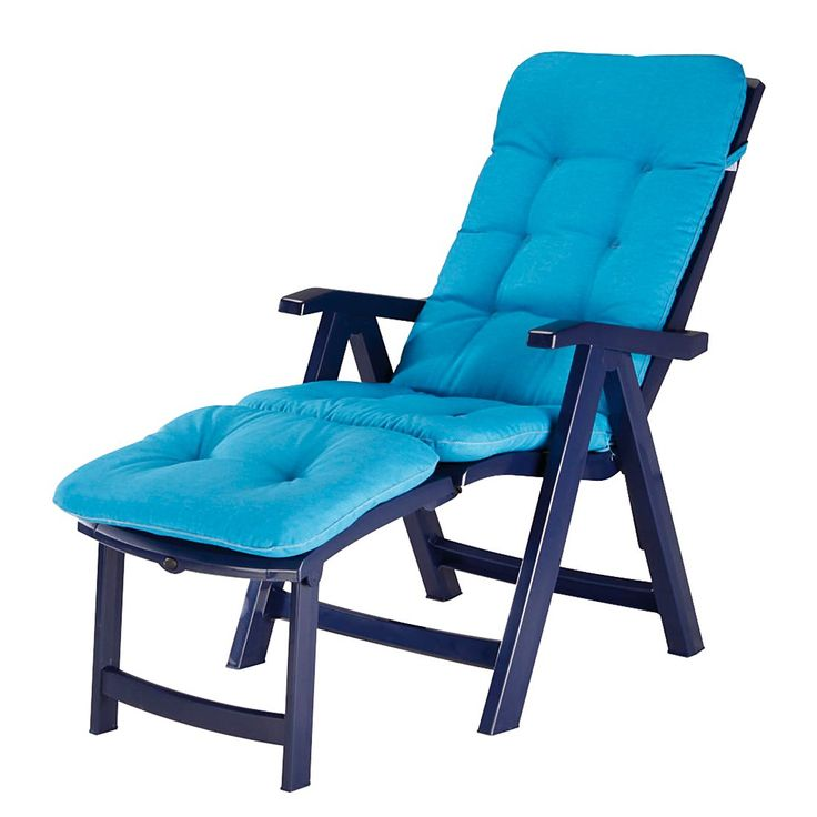 Deck-Chair Florida - Kunststoff/Webstoff - Blau/Türkis, Best Freizeitmöbel Jetzt bestellen unter: https://moebel.ladendirekt.de/garten/gartenmoebel/gartenliegen/?uid=02c20311-4773-599c-a56a-103e8592b846&utm_source=pinterest&utm_medium=pin&utm_campaign=boards #gartenliegen #freizeitmöbel #garten #best #gartenmoebel #gartenmöbel