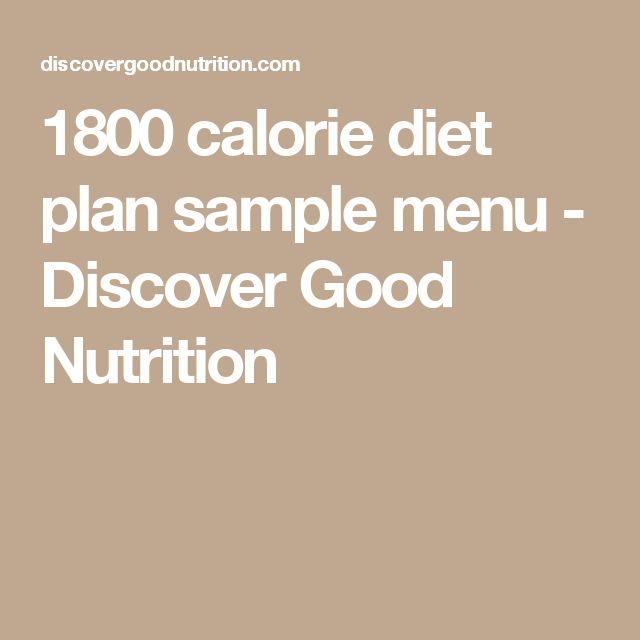 1800 calorie diet plan sample menu - Discover Good Nutrition