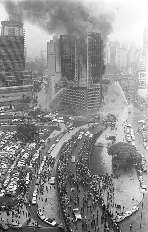 40 anos do incêndio do edifício Joelma em São Paulo. 02/02/74