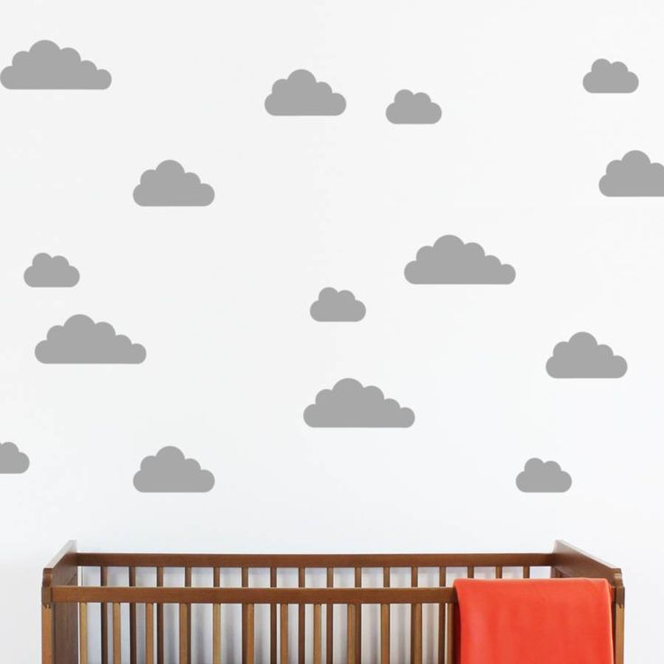 A Set Of Mini Cloud Wall Stickers.Available In 18 Colours   Pink, Cerise Part 56