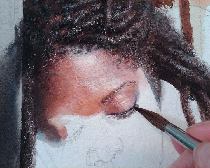 Stunning...<3~~~ Watercolor | by Mary Whyte https://www.facebook.com/MaryWhyteArtist