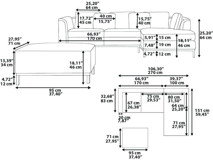 Standard Couch Size Height Living Room Sofa Cushion Mebel Dizajn Mebeli Dizajn Interera