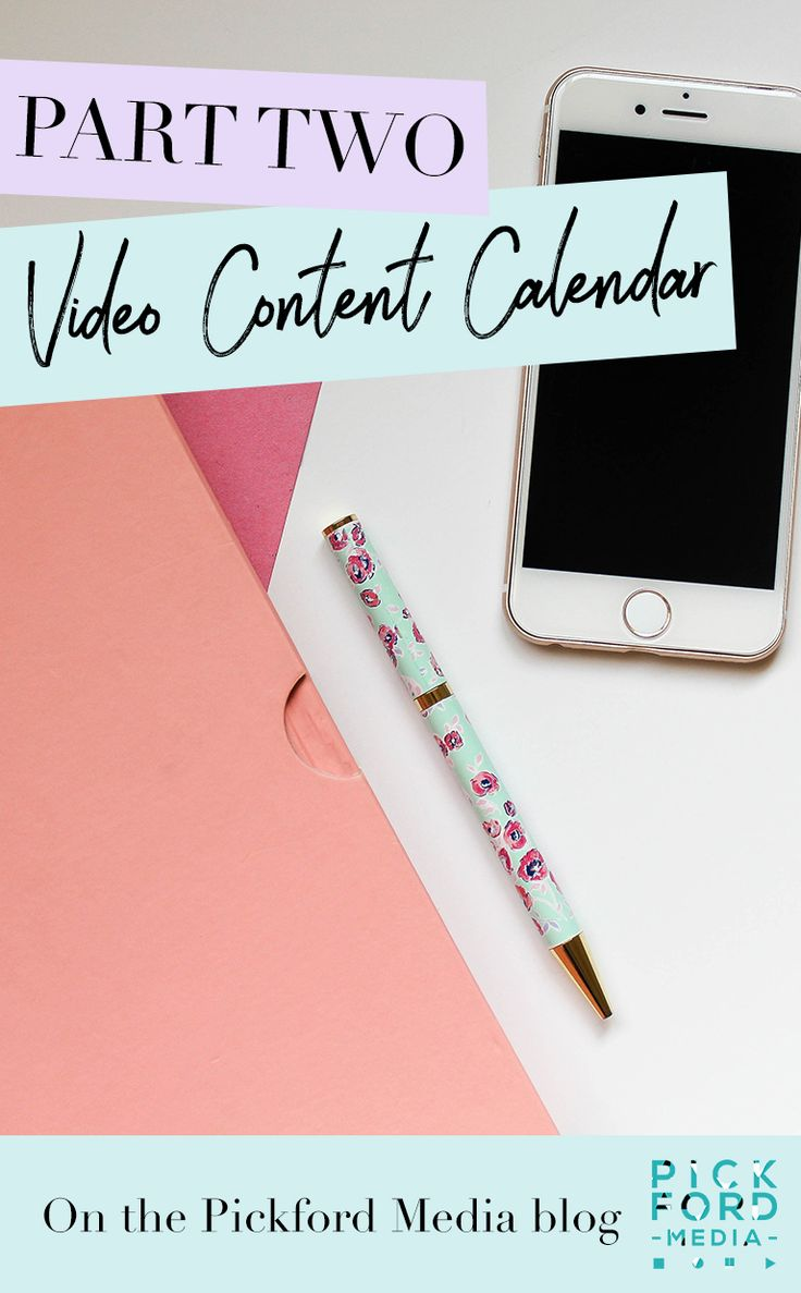 PART TWO - Video Content Calendar At this point it's imperative to couple each video idea with a realistic business goal or objective that can be measured. These need to be goals to support your business – otherwise, why are you really doing all this work!?