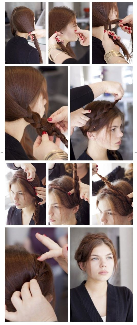 Best The Milkmaid Braid Images On Pinterest Braided Updo - Diy hairstyle knotted milkmaid braid
