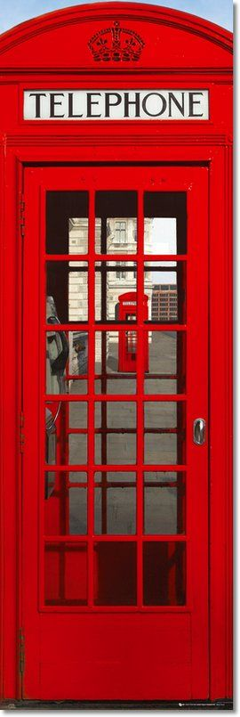 montebello parka London Telephone Box  Red On Anything