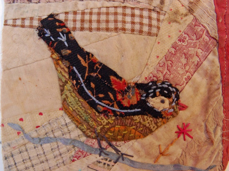 Thread and Thrift: Crazy Patchwork Appliqued Birds  by Mandy Pattullo    http://threadandthrift.blogspot.co.uk/2013/03/crazy-patchwork-appliqued-birds.html?utm_source=feedburner_medium=email_campaign=Feed:+ThreadAndThrift+%28Thread+and+Thrift%29#
