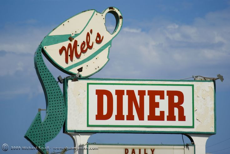 Grand Ave Phoenix Sign Photography - Mel's Diner