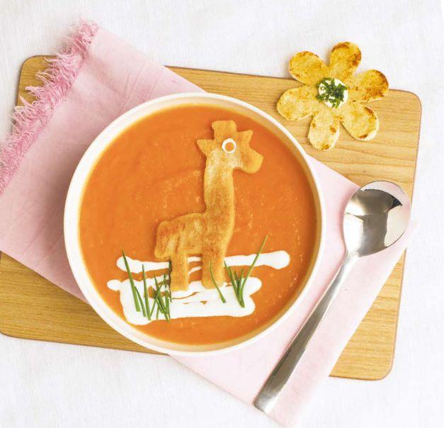 Carrot soup with giraffe / Mrkvová polévka se žirafou (www.albert.cz/recepty)