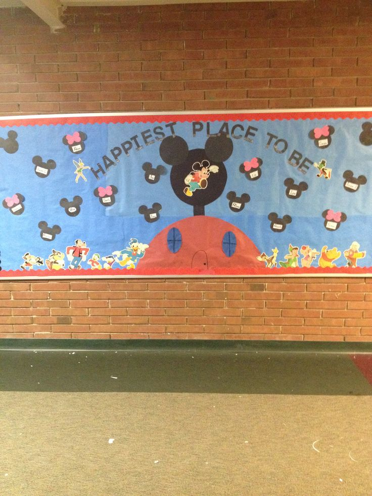 happiest place to be...Disney bulletin board