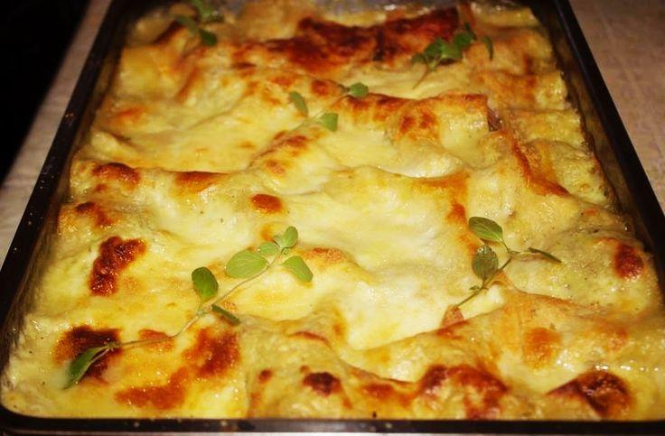 Lasagna cu ciuperci și sos alb (după 1 an)