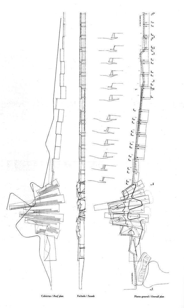 archery range diagram enric miralles the funambulist  4   plans and sections  enric miralles the funambulist  4   plans and sections