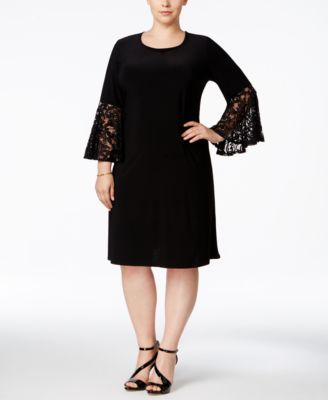 R & M Richards Plus Size Ruffled-Sleeve Sheath Dress | macys.com