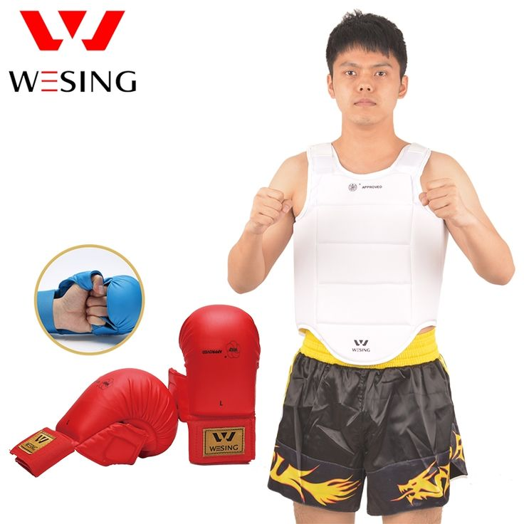 56.39$  Watch here - http://ali0r3.worldwells.pw/go.php?t=32738612294 - Wesing karate chest guard karate gloves karate equipment set for training and competition