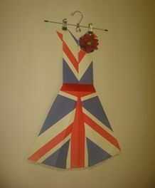 Folded Paper Dress Art - Union Jack