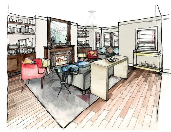 Living Room Sketch/ Courtney's Corner: Creating floor plans
