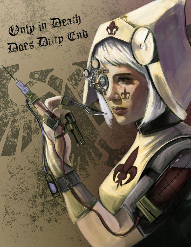 Only in Death does Duty end. Warhammer 40K Art, Beautiful