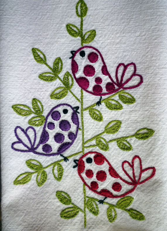 I have two sets of towels that she embroidered. ^_^