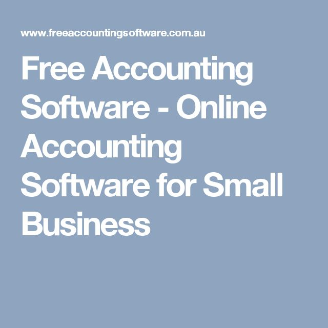 Free Accounting Software - Online Accounting Software for Small Business