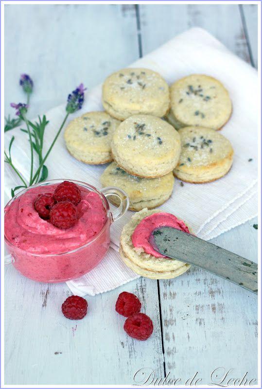 Tea Party Lavender scones with raspberry butter. Garden tea menu must.