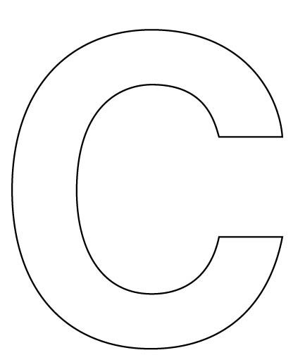 Letter C on letter e shape print out