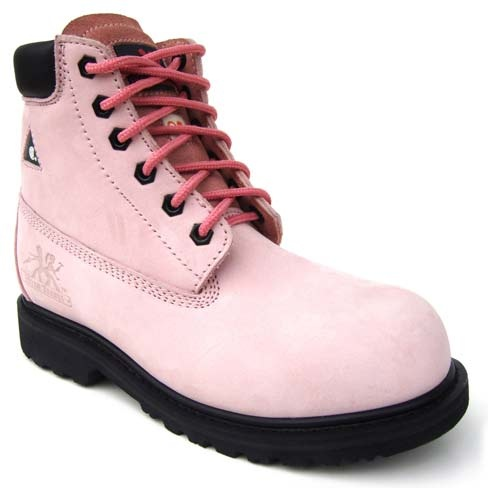 Moxie Trades Betsy Xtreme Pink Safety Boots | It is Woman shoes