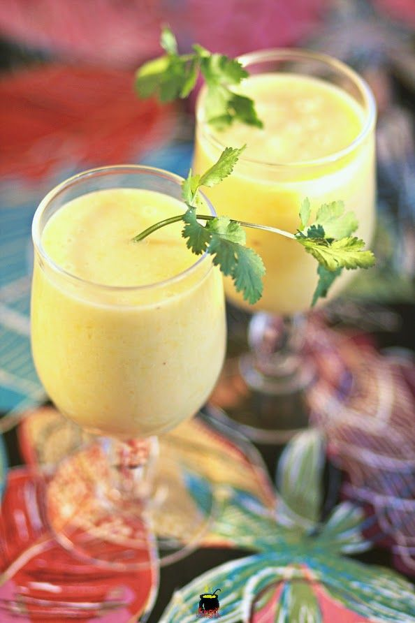 Smoothie ananas-banane-coco.