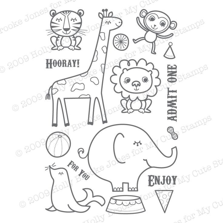This Is One Of The Cutest Circus Animal Sets I Have Seen