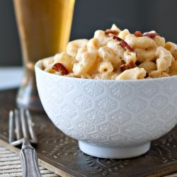 One pot, stove top, Beer & Bacon Mac and Cheese. Make this tonight.