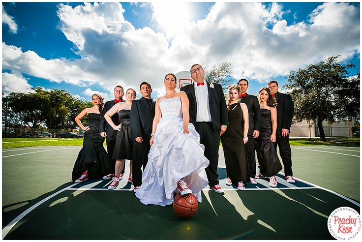 Basketball wedding by Peachy Keen Photography idd foto met basketbal shoes eronder