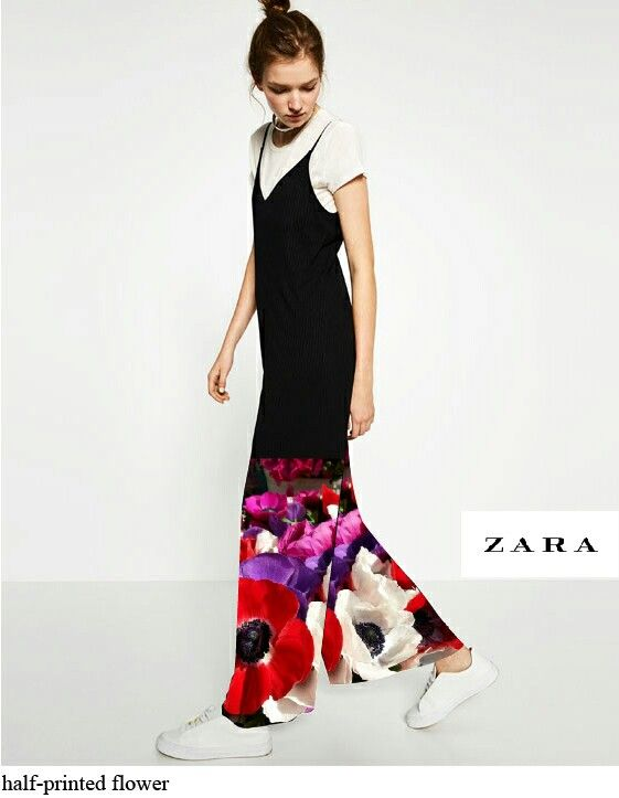 ZARA_printed flower jumpsuit
