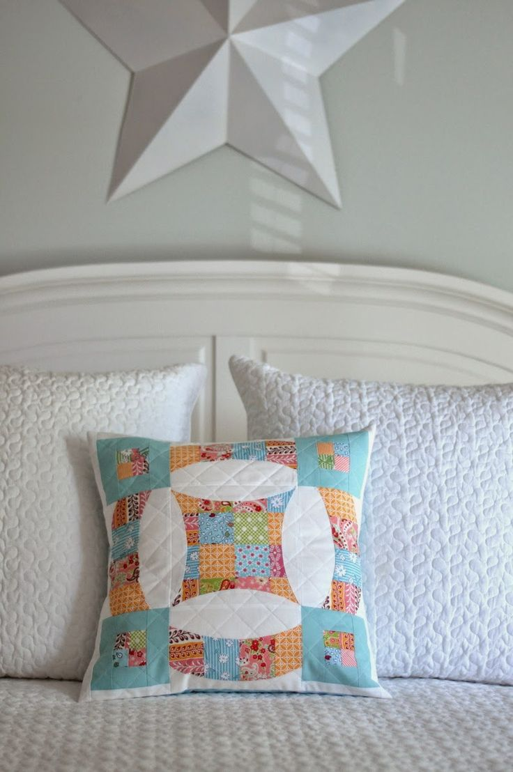 Patchwork pillow from PLEASANT HOME: Sew Kind of Wonderful Blog Hop !!!