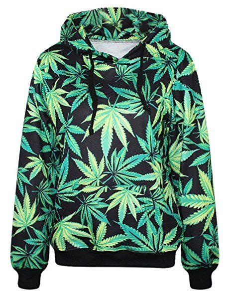 SMITHROAD Damen / Herren Hipster Hoodie Kapuzenpullover mit 3D Aufdruck Print Sweatshirt mit Kapuze Muster 01 S/M