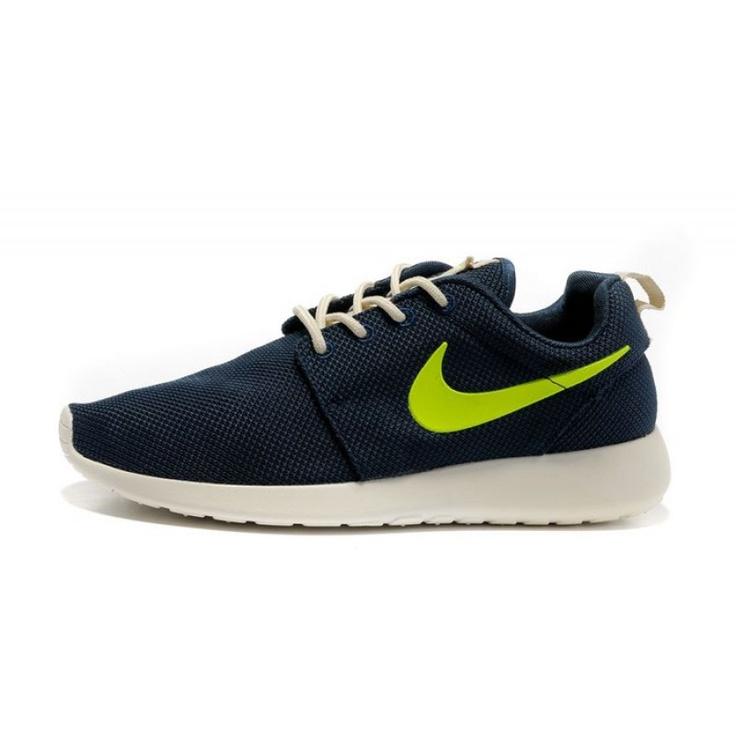 Nike Roshe Run Men's Running Shoes - Black/Green