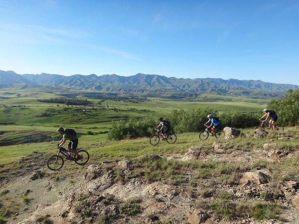 Riding in the foothills of the Maluti Mountains