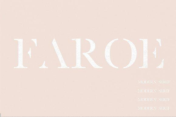 Faroe | A Modern Serif by Jen Wagner Co on @creativemarket