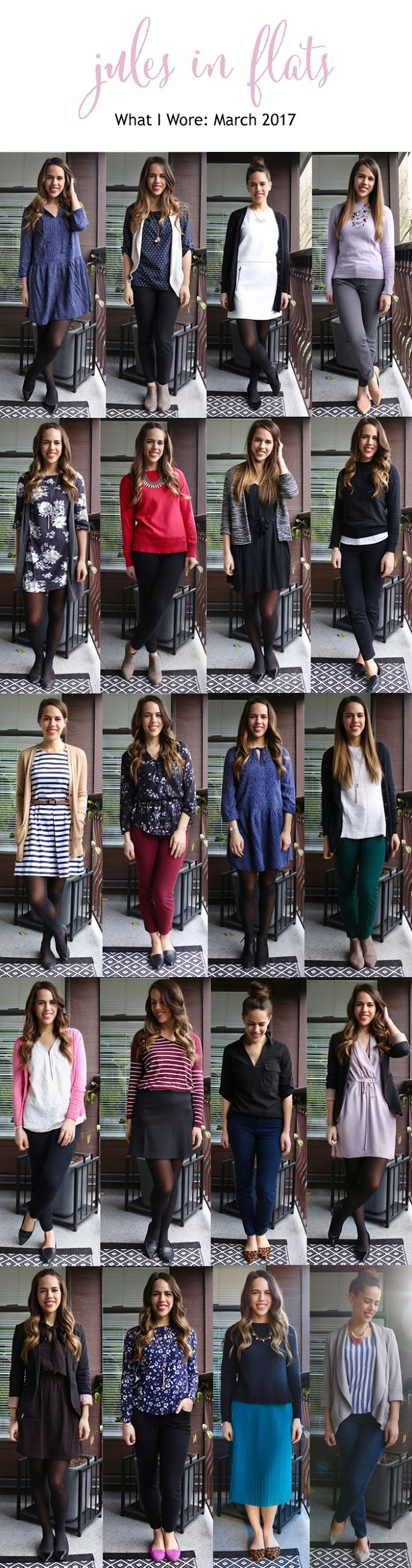Jules in Flats Monthly Outfit Roundup March 2017
