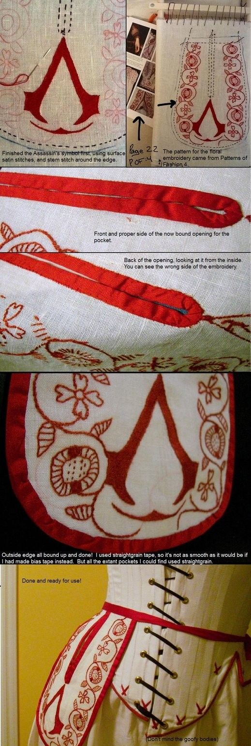 Assassins' Creed  embroidery. Make sure your dishtowels warn the world not to mess with you.