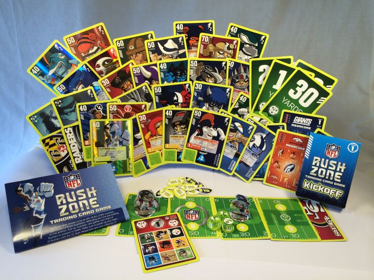 34 best NFL RUSH ZONE TCG Trading Card Game images on Pinterest - sample trading card