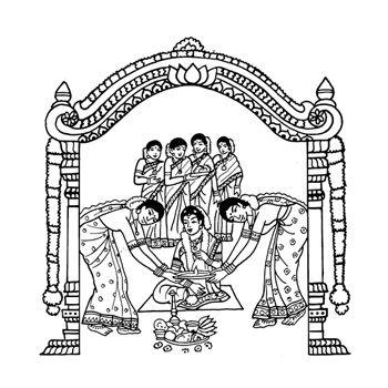 Hindu Wedding Cards Logo Clipart