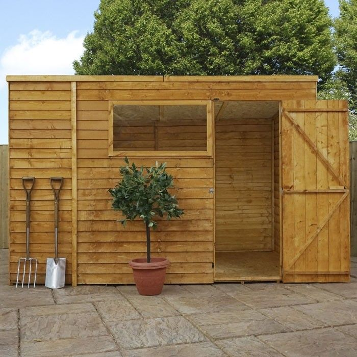 Adley 10 X 6 Overlap Pent Shed In 2020 Shed Wooden Sheds Garden Shed