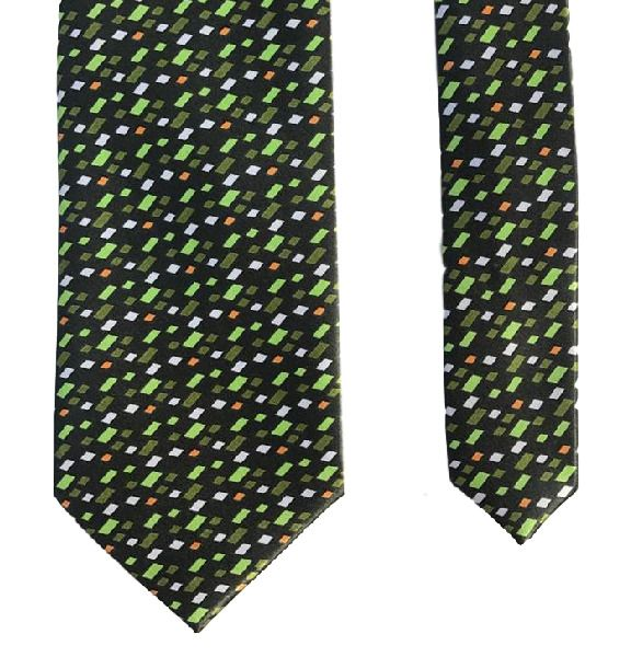 Robert Allan Shiny Green Funky Stylish Classy 100% Polyester Men's Neck Tie #RobertAllan #Tie #mensties #mensaccessories