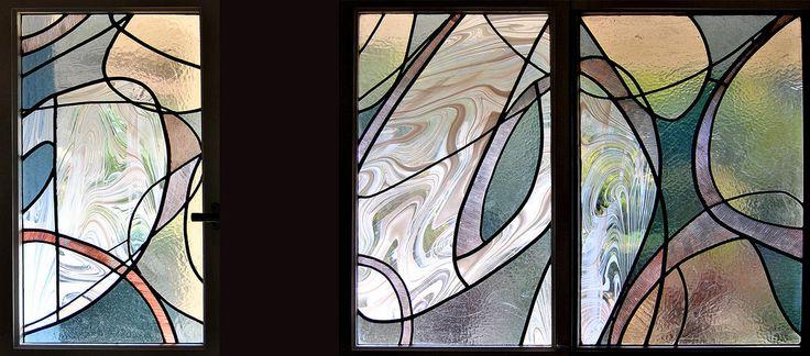 designed stained glass windows by Susanna van der Linden, Ceret