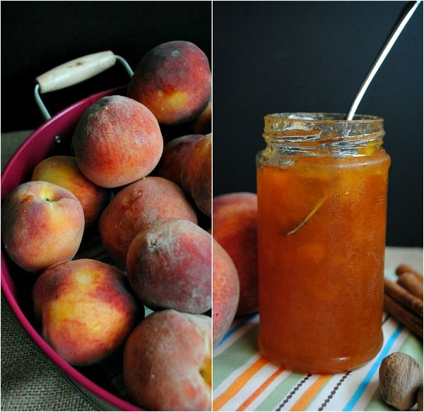 Spiced Peach Jam - I like the idea of the ginger and spices in this but I don't want to use pectin and I need a sugar substitue.... Probably xylitol.