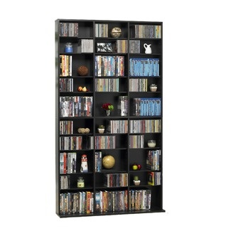 DVD shelf-  wider than what we have now, but also has more style than just the movies. Not black though...add a light gray or blue???