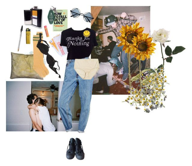 """""""I'M JUST A CONSTANT HEADACHE"""" by wasteyrselfff ❤ liked on Polyvore featuring She's So, Retrò, Converse, Levi's, Pier 1 Imports, RED Valentino, Agent Provocateur, Burt's Bees and kitchen"""
